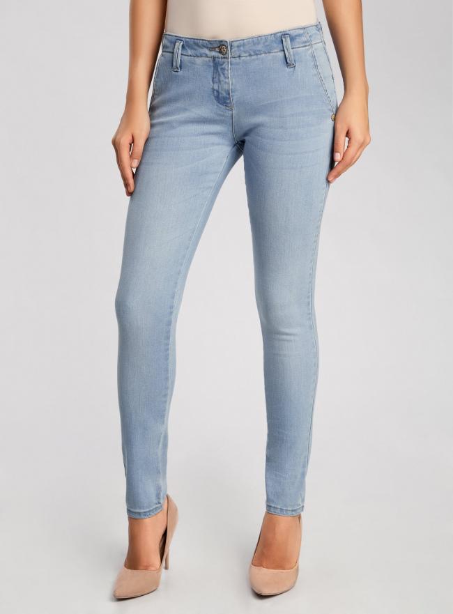 Джинсы slim fit базовые oodji для женщины (синий), 22103053/33636/7000W