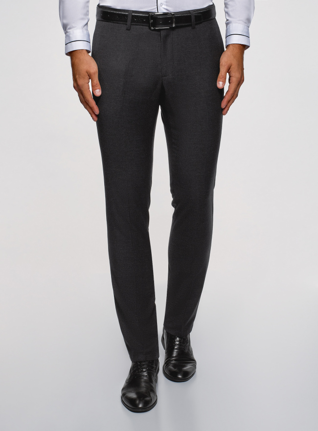 Брюки классические slim fit oodji для мужчины (серый), 2L210242M/48751N/2529C