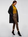Кардиган с накладными карманами без застежки oodji для женщины (черный), 63212590/18941/2900N