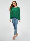 Блузка вискозная с воланами oodji #SECTION_NAME# (зеленый), 11405136/46436/6E00N - вид 6
