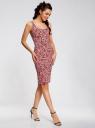 Платье-майка трикотажное oodji #SECTION_NAME# (розовый), 14015007-3B/37809/4110F - вид 6