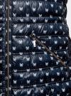 Куртка удлиненная с асимметричным низом oodji #SECTION_NAME# (синий), 10203056-2B/42257/7930A - вид 5
