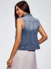 Жилет джинсовый с декоративными карманами oodji #SECTION_NAME# (синий), 12409023/45369/7500W - вид 3