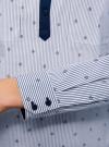 Рубашка с нагрудными карманами и контрастной отделкой oodji #SECTION_NAME# (синий), 11403222-5B/46807/7910S - вид 5