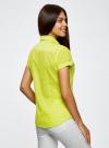 Рубашка базовая с коротким рукавом oodji #SECTION_NAME# (зеленый), 11402084-5B/45510/6A00N - вид 3