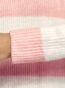 Джемпер фактурной вязки с круглым вырезом oodji для женщины (розовый), 63807335-2/48517/4112S