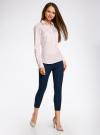 Рубашка приталенная с нагрудными карманами oodji #SECTION_NAME# (розовый), 11403222-4/46440/4010S - вид 6