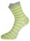 Комплект из трех пар хлопковых носков oodji для женщины (разноцветный), 57102802T3/47469/24 - вид 4