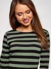 Платье базовое принтованное oodji #SECTION_NAME# (зеленый), 14011038-2B/37809/6629S - вид 4