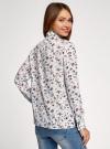 Блузка вискозная с декоративными завязками oodji #SECTION_NAME# (разноцветный), 11411118/24681/3079F - вид 3