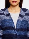 Кардиган полосатый с капюшоном oodji #SECTION_NAME# (синий), 63205244/46133/7579S - вид 4