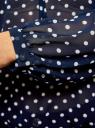 Блузка принтованная с завязками oodji для женщины (синий), 21418013-2/17358/7912D