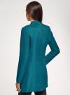Пальто приталенное с косой застежкой oodji #SECTION_NAME# (синий), 10104044/45367/6C00N - вид 3