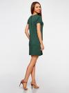 Платье трикотажное из фактурной ткани oodji #SECTION_NAME# (зеленый), 14000162-1/47198/6900N - вид 3