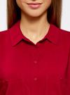 Блузка из вискозы с нагрудными карманами oodji #SECTION_NAME# (красный), 11400391-3B/24681/4500N - вид 4