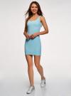Платье-майка трикотажное облегающее oodji #SECTION_NAME# (синий), 14001210/48152/7000N - вид 6