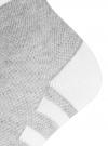Комплект из трех пар хлопковых носков oodji для женщины (серый), 57102711T3/48022/11 - вид 4