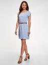 Платье вискозное без рукавов oodji #SECTION_NAME# (синий), 11910073B/26346/7010G - вид 6
