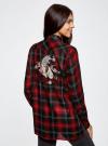 Блузка из вискозы с вышивкой на спине oodji #SECTION_NAME# (красный), 11411171/46974/2945C - вид 3
