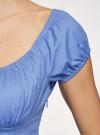 Платье хлопковое со сборками на груди oodji #SECTION_NAME# (синий), 11902047-2B/14885/7500N - вид 5