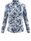 Блузка вискозная с нагрудными карманами oodji #SECTION_NAME# (слоновая кость), 21411115/46436/3079F