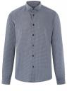 Рубашка приталенная с графичным принтом oodji #SECTION_NAME# (синий), 3L110340M/19370N/7910G
