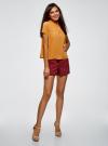 Блузка с коротким рукавом oodji #SECTION_NAME# (желтый), 11400427/36215/5200N - вид 6