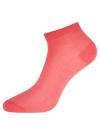 Комплект из трех пар хлопковых носков oodji для женщины (разноцветный), 57102701T3/49011/19 - вид 3