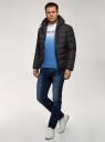 Куртка стеганая с капюшоном oodji #SECTION_NAME# (черный), 1B112027M/33743/2900N - вид 6