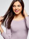 Платье облегающее с вырезом-лодочкой oodji #SECTION_NAME# (фиолетовый), 14017001-6B/47420/8000M - вид 4