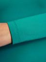 Футболка с длинным рукавом (комплект из 3 штук) oodji для женщины (зеленый), 24201007T3/46147/6D00N