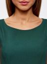 Платье из плотной ткани с овальным вырезом oodji #SECTION_NAME# (зеленый), 11907004-2/31291/6900N - вид 4