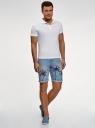 Шорты джинсовые с принтом oodji #SECTION_NAME# (синий), 6L220020M/35771/7400W - вид 6