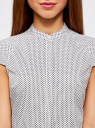 Рубашка с коротким рукавом из хлопка oodji для женщины (белый), 11403196-3/26357/1079G