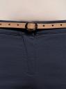 Брюки-чиносы с ремнем oodji для женщины (синий), 11706190-3B/32887/7900N