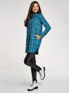 Платье-рубашка с карманами oodji #SECTION_NAME# (бирюзовый), 11911004-2/45252/7329C - вид 6