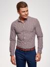 Рубашка хлопковая в клетку oodji для мужчины (красный), 3L110319M/47823N/7945C - вид 2