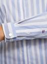 Рубашка приталенного силуэта в полоску oodji для женщины (синий), 11401255/45668/7010S