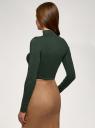 Водолазка из вискозы oodji для женщины (зеленый), 15E11030/49998/6900N