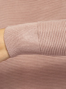 Джемпер свободного силуэта со спущенной линией плеча oodji для женщины (бежевый), 63812684/50259/3300N