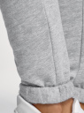 Брюки спортивные с завязками oodji #SECTION_NAME# (серый), 16701010-7B/46980/2001M - вид 5