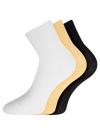 Комплект безбортных носков (3 пары) oodji для женщины (разноцветный), 57102801T3/48022/8 - вид 2