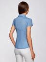 Блузка принтованная из легкой ткани oodji #SECTION_NAME# (синий), 21407022-9/12836/7510D - вид 3