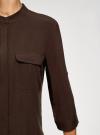 Блузка вискозная с нагрудными карманами oodji #SECTION_NAME# (коричневый), 11403225-7B/42540/3900N - вид 5