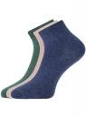 Комплект из трех пар укороченных носков oodji для женщины (розовый), 57102418T3/47469/4063M
