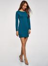 Платье базовое облегающего силуэта oodji #SECTION_NAME# (зеленый), 14011038B/38261/6C00N - вид 6