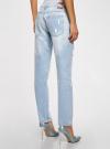 Джинсы-бойфренды с винтажными потертостями oodji для женщины (синий), 12105013/45215/7000W - вид 3