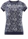 Свитшот принтованный с коротким рукавом oodji для женщины (синий), 14801008-1/45893/7912E