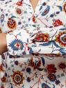 Блузка прямого силуэта с V-образным вырезом oodji #SECTION_NAME# (белый), 21400394-3M/24681/1219E - вид 5
