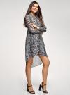 Платье шифоновое с асимметричным низом oodji для женщины (серый), 11913032/38375/2029A - вид 6